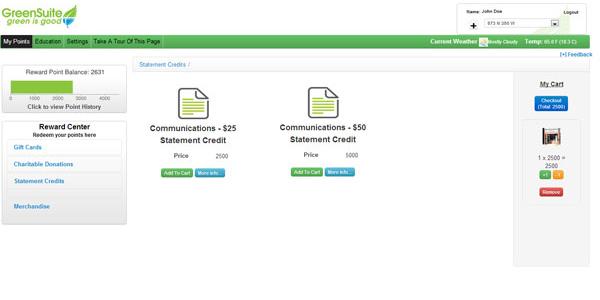 Telecom Reward Points: Statement Credits