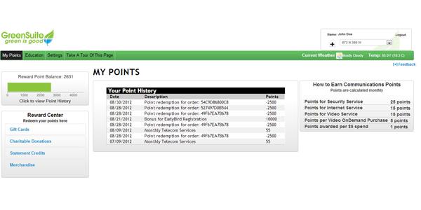Telecom Reward Points